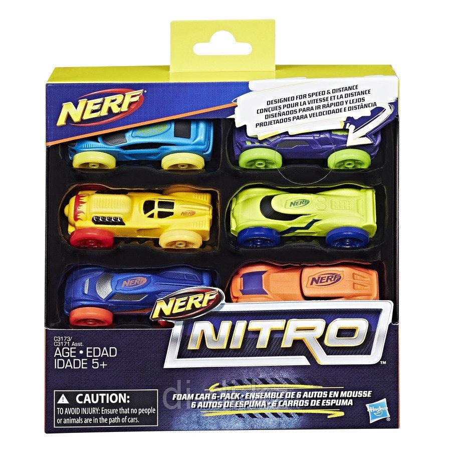 Hasbro Nerf Машинки Нитро 6 штук