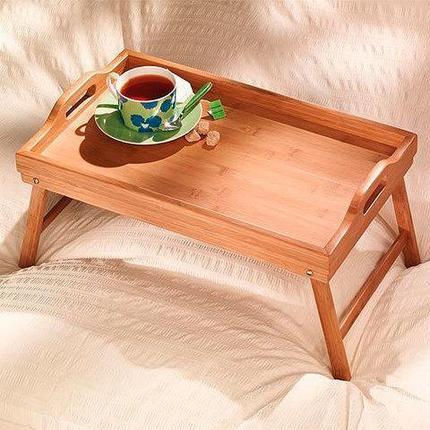 Столик бамбуковый для завтрака, фото 2