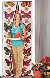 Антимоскитная сетка-штора на магнитах Magic Mesh Butterfly