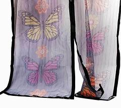 Антимоскитная сетка-штора на магнитах Magic Mesh Butterfly, фото 2
