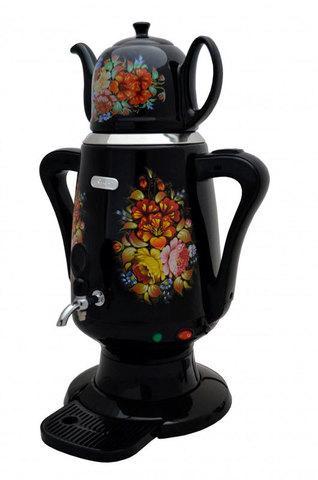 Самовар электрический с керамическим заварочным чайником Bene KS6-BK [4 л]