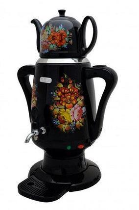 Самовар электрический с керамическим заварочным чайником Bene KS6-BK [4 л], фото 2