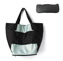 Сумка складная Magic Bag [25 л] с кармашками и чехлом (Оранжево-черная), фото 3