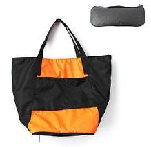 Сумка складная Magic Bag [25 л] с кармашками и чехлом (Темно-синяя), фото 3