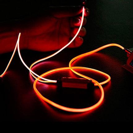Наушники светящиеся вакуумные металлические Glowing Earphone (Оранжевый), фото 2