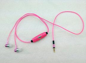 Наушники светящиеся вакуумные металлические Glowing Earphone (Пурпурный), фото 3