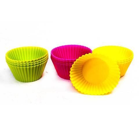 Набор силиконовых форм для кексов [12 шт.]
