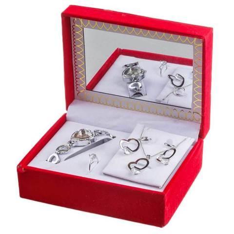 Подарочный набор женских украшений «Восхищение» JESOU [3908] (Сердце)