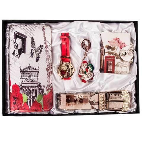 Подарочный комплект женских аксессуаров «Романтичные мотивы» JESOU [40021] (Гламурная француженка)