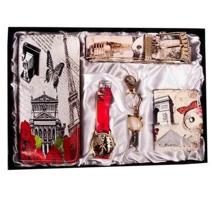 Подарочный комплект женских аксессуаров «Романтичные мотивы» JESOU [40021] (Приключения в Париже), фото 2