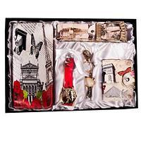 Подарочный комплект женских аксессуаров «Романтичные мотивы» JESOU [40021] (Приключения в Париже)