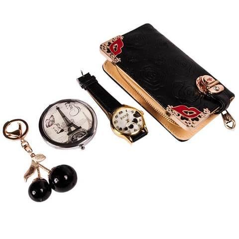 Подарочный комплект женских аксессуаров «Стильные штучки» JESOU (Цветочное изящество)