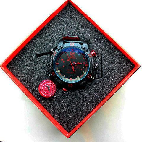 Часы наручные мужские спортивные Shark Sport Watch SH265 (Черный с синим)