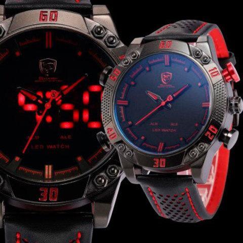 Часы наручные мужские спортивные Shark Sport Watch SH265 (Черный с красным)