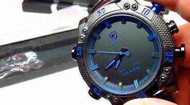 Часы наручные мужские спортивные Shark Sport Watch SH265 (Черный с красным), фото 3