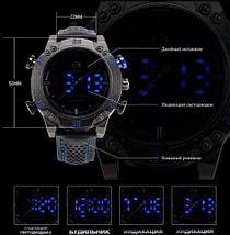 Часы наручные мужские спортивные Shark Sport Watch SH265 (Черный с красным), фото 2