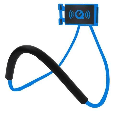 Держатель универсальный гибкий для телефона на шею (Синий)