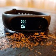 Фитнес-браслет с пульсометром Mi Band-2 (Черный), фото 3