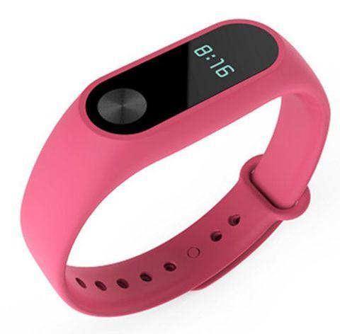 Фитнес-браслет с пульсометром Mi Band-2 (Розовый)