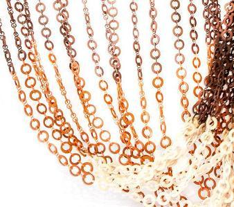 Занавески для дверного проема «Плоские кольца» (Светло-коричневый/белый/темно-коричневый)