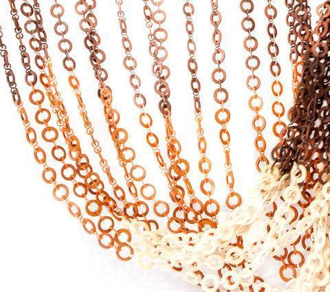Занавески для дверного проема «Плоские кольца» (Темно-коричневый), фото 2