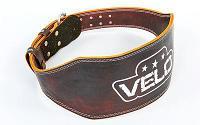 Пояс для пауэрлифтинга кожаный Velo, фото 1