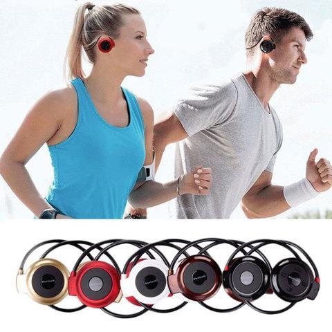 Наушники беспроводные Bluetooth с MP3-плеером Mini-503TF для занятия спортом (Красный)