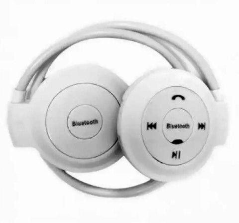 Наушники беспроводные Bluetooth с MP3-плеером Mini-503TF для занятия спортом (Белый)