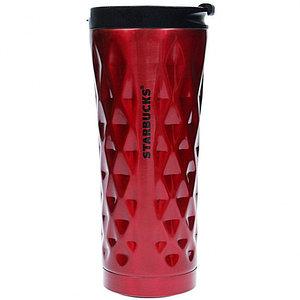 Термокружка Starbucks тамблер Diamond Waves {500 мл} (Красный)