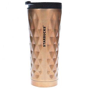 Термокружка Starbucks тамблер Diamond Waves {500 мл} (Золотистый)