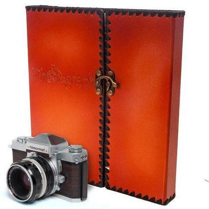 Фотоальбом  в твердом кожаном переплете Reminiscence Photograph [40 страниц], фото 2