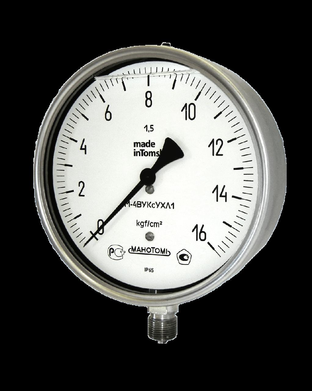 Манометры, вакуумметры, мановакуумметры М-4ВУКс, В-4ВУКс, МВ-4ВУКс