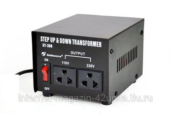 Конвертер-трансформатор ST-300 VA 110v/220v и 220v/110v