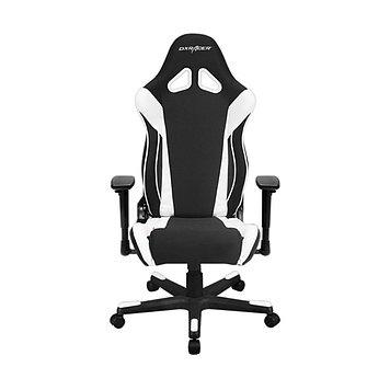 Кресло игровое DXRacer R106, Нагрузка (max): 120 кг, Подлокотники, Подголовник, Вентиляция, Цвет: Чёрно-белый,