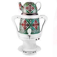 Самовар электрический с керамическим заварочным чайником NEWAL TEA SAMOVAR [4 л, 1800W] (Изумрудная)