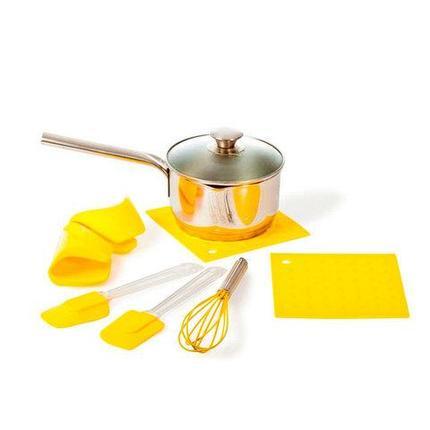 Набор кухонных аксессуаров из силикона «Солнышко и облочко» [7 предметов] (Желтый), фото 2