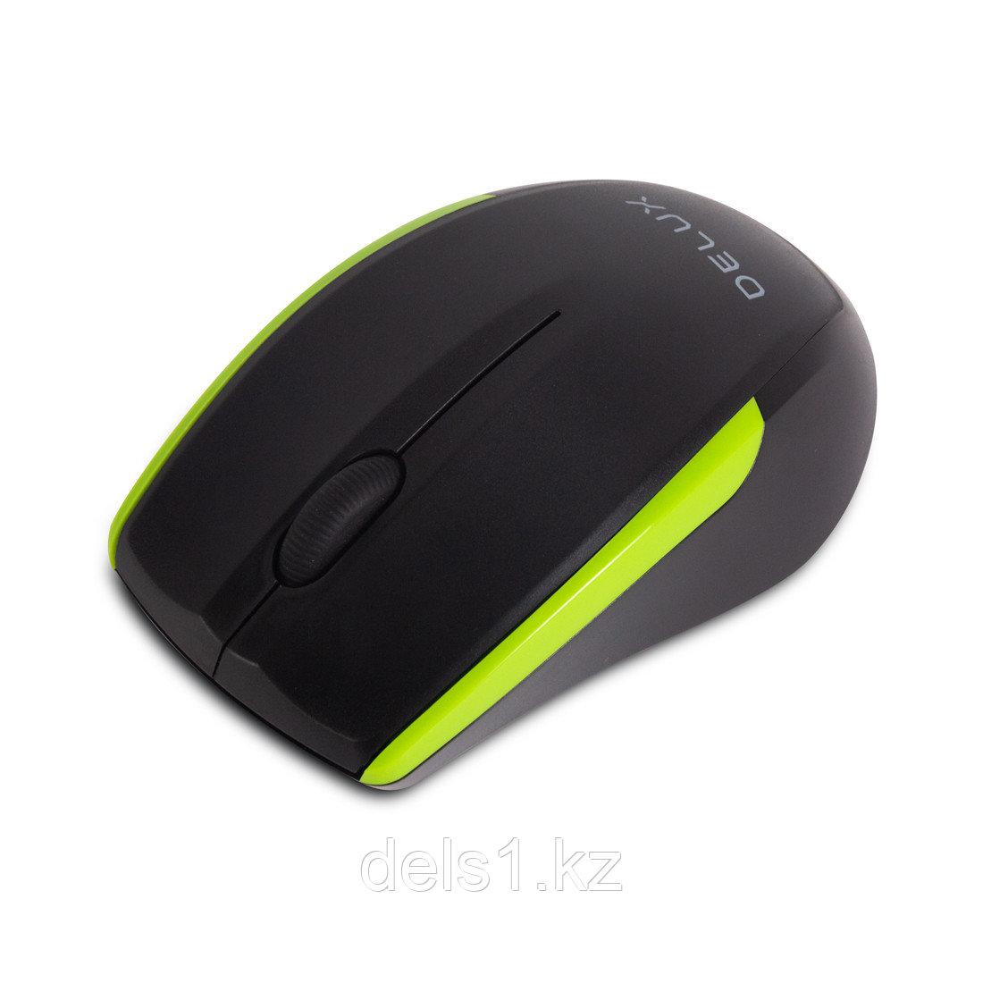 Мышь, Delux, DLM-321OGB, Оптическая, 800/1000/1600 dpi,Беспроводная 2.4ГГц,