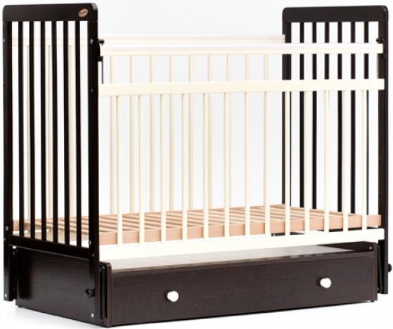 Кровать детская Bambini Евро стиль M 01.10.04 Темный орех+Слоновая кость