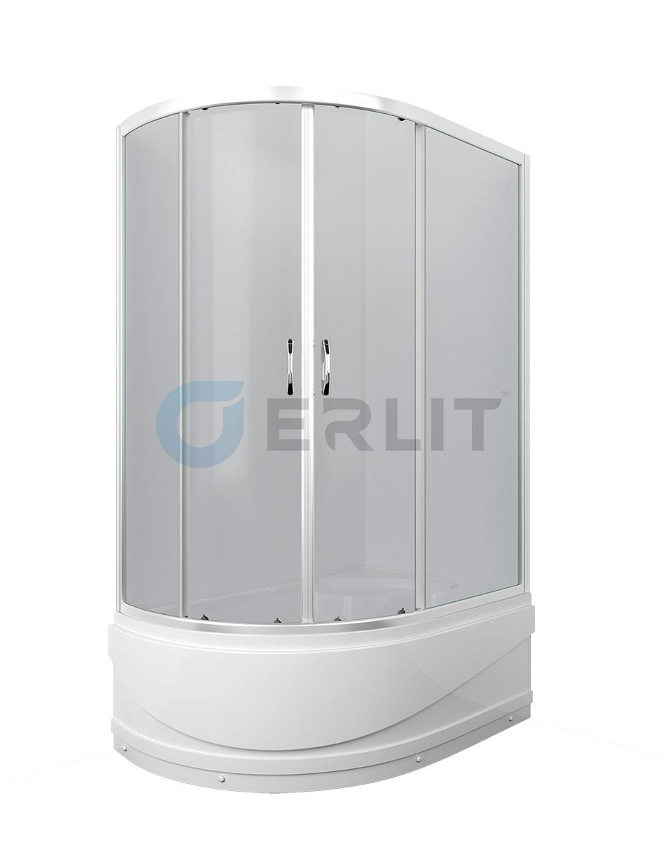 Душевая кабина ER0512TR-C4  120х80см. Глубокий поддон. Тонированное стекло. Правосторонняя.