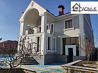 Фасад дома гранитом и декор пенополистирол
