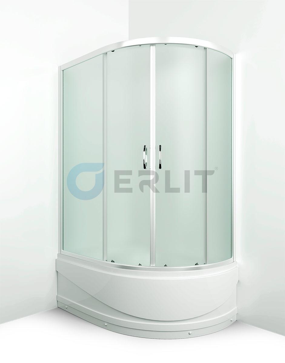 Душевая кабина ER0512TL-C3  120х80см. Высокий поддон. Матовое стекло. Левосторонняя.