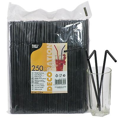 Черные трубочки d0,5x24см  250шт./уп Ps