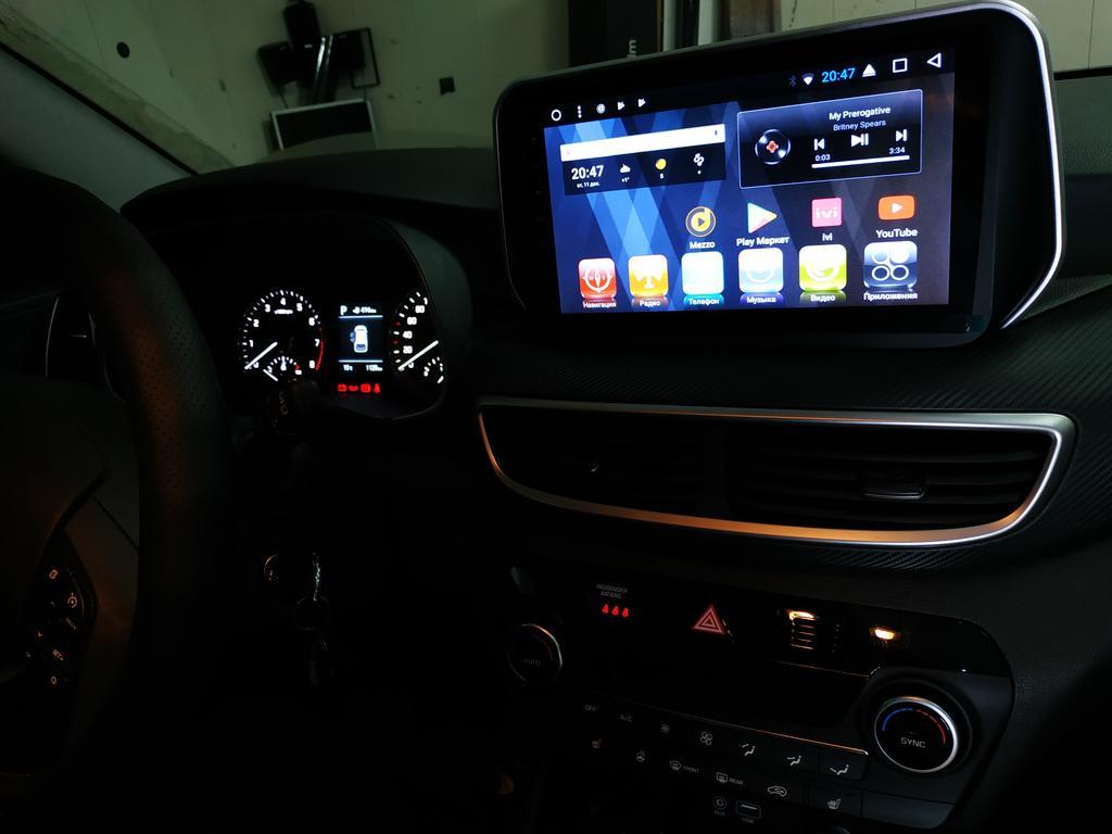 Штатная магнитола Hyundai Tucson 2018 2019 под управлением Android
