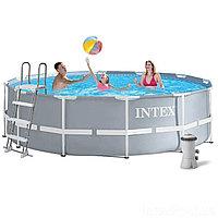 28726 INTEX Каркасный бассейн 366х122 см, лестница и фильтр-насос