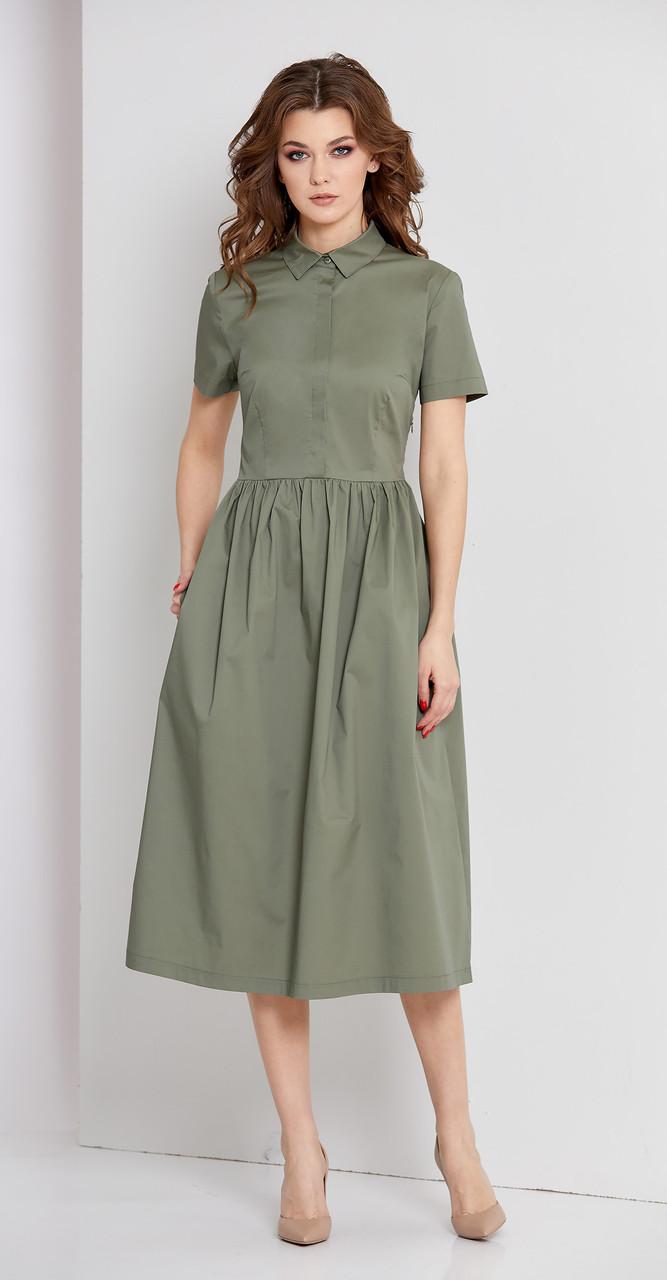 Платье EOLA-1661, олива, 50