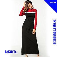 Длинное платье, подчеркивающее фигуру