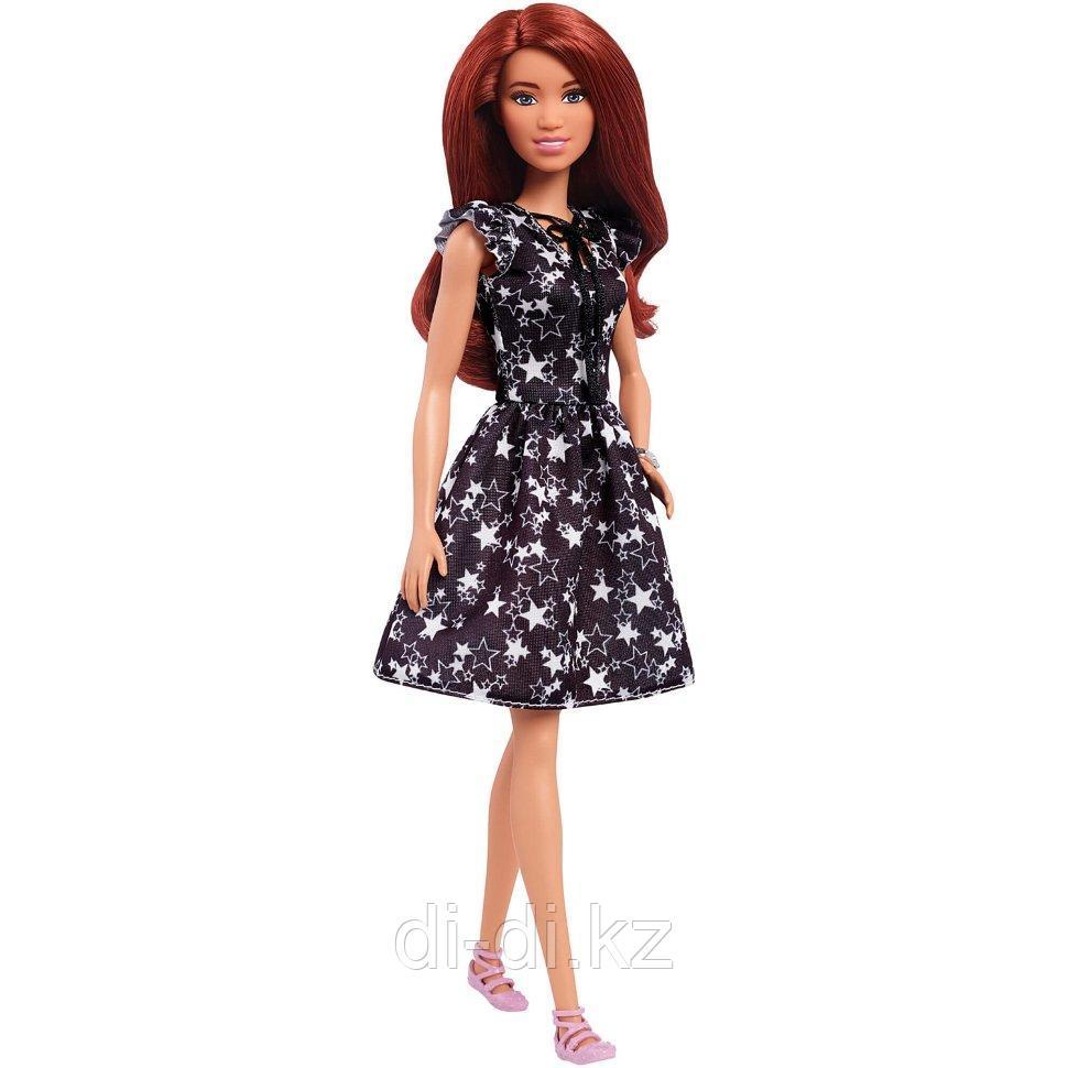"""Barbie """"Игра с модой"""" Кукла Барби Шатенка в черном платье #74 (Высокая)"""