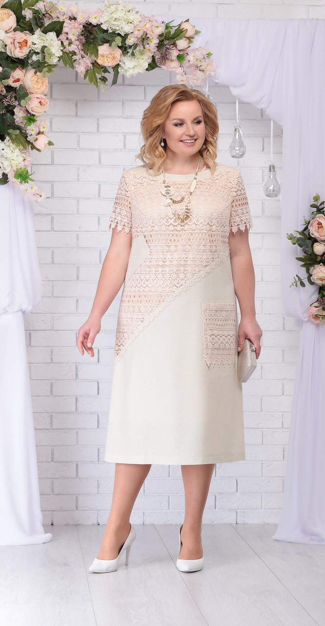 Платье Ninele-5710, бежевый, 54