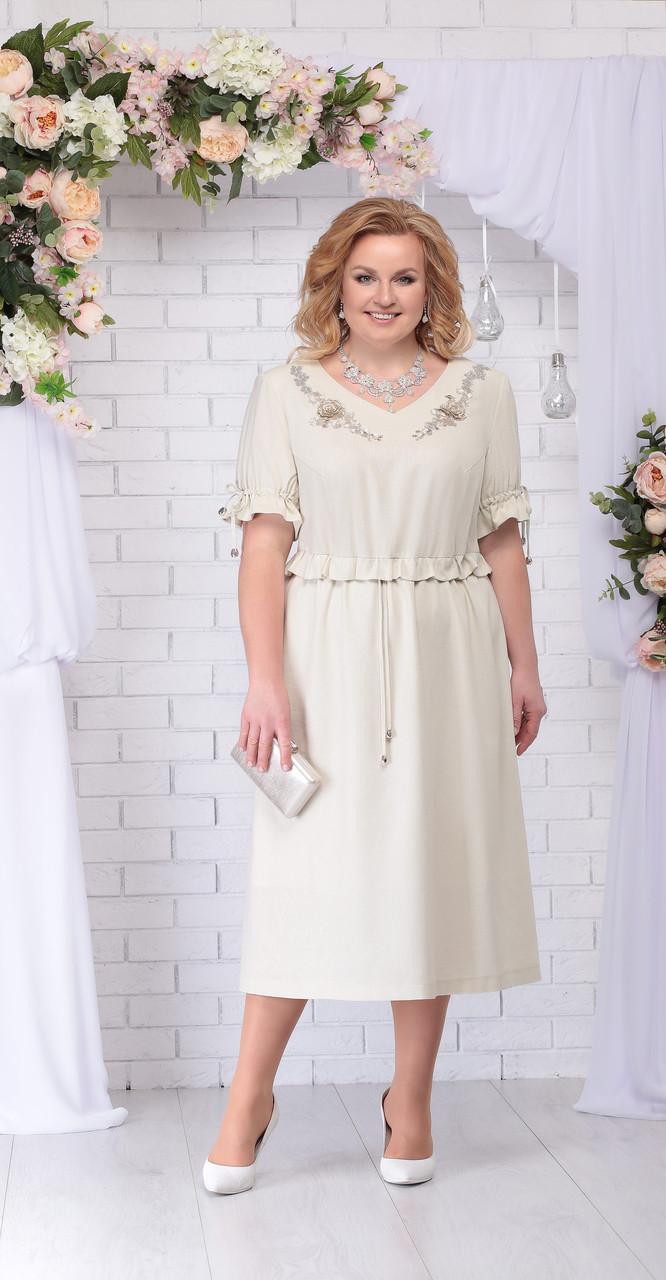 Платье Ninele-7234, бежевый, 58