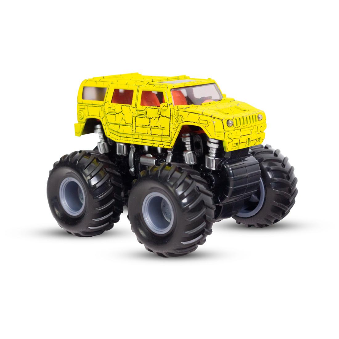 Инерционный внедорожник 12см, X Game kids, X7652, Серия OFF-ROAD, Открытая упаковка, Желтый кузов, Цветная